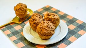 air fryer muffins on a plate
