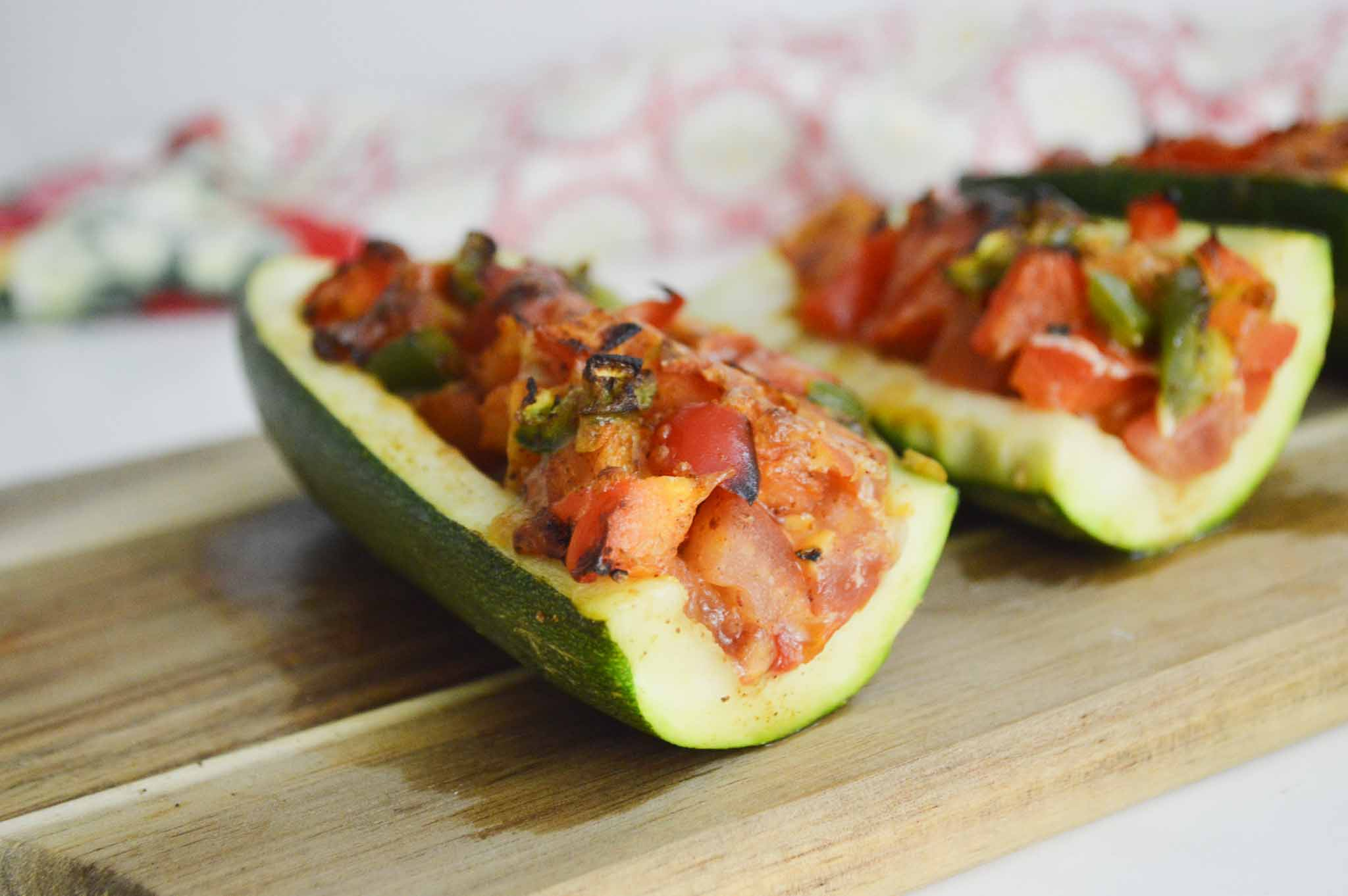 Air-Fryer-Vegetable-Stuffed-Zucchini-Boats