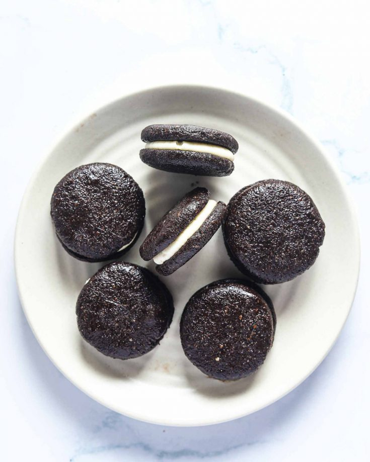 Easy Vegan Gluten Free Chocolate Cookies (Oreo Copycat)