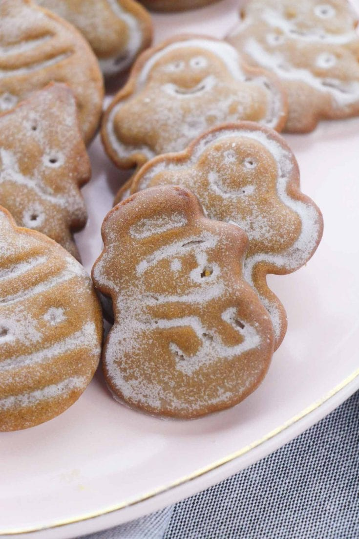 Glazed Gingerbread Christmas Cookies