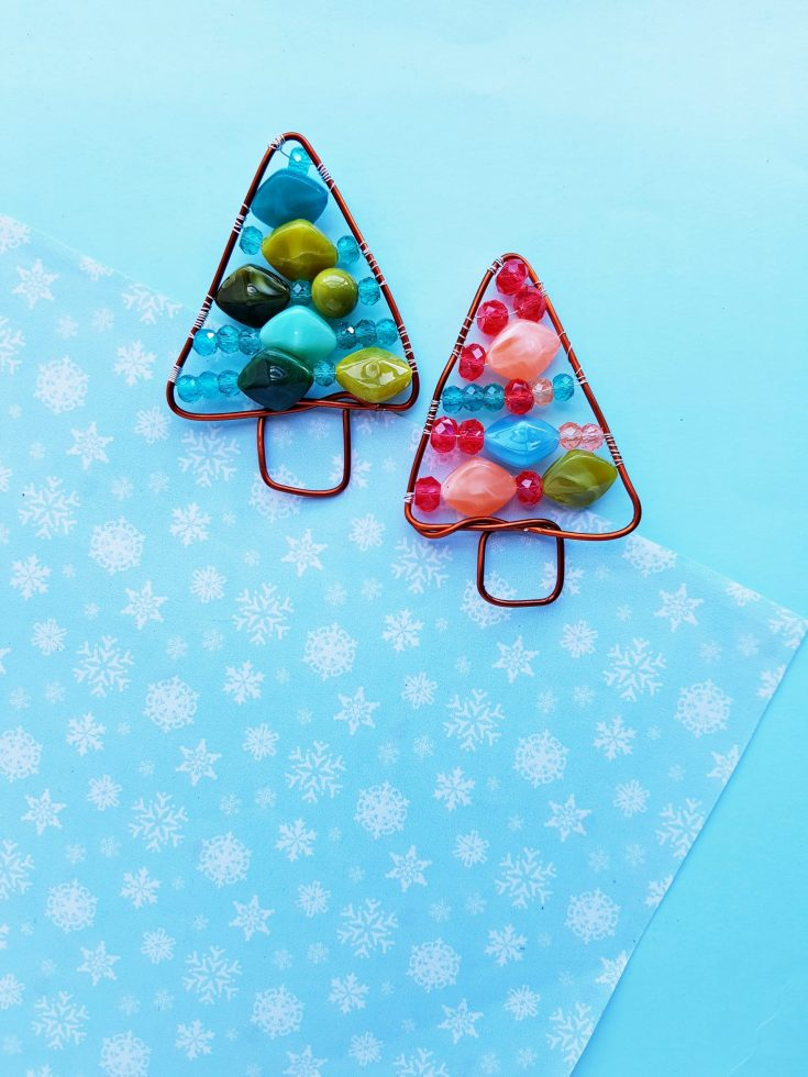 DIY Holiday Craft - Beaded Wire Christmas Tree Ornament