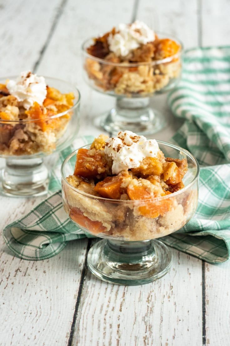 Sweet Potato Bread Pudding With Homemade Maple Sauce