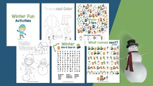 Kids Activities - Winter Fun Six Pages