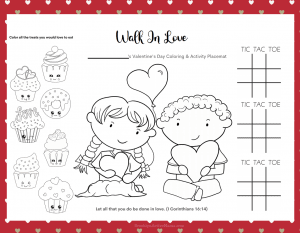 Valentine's Day Placemats Coloring Page