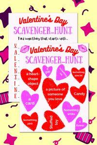Valentine's Day Scavenger Hunt Printable