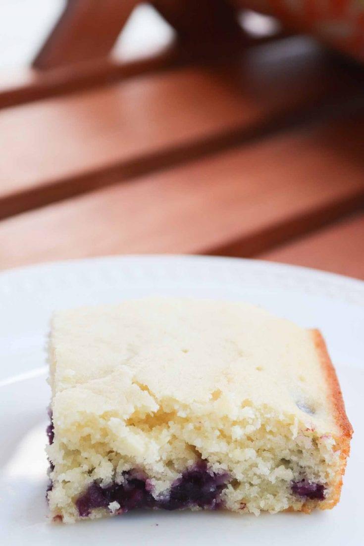 Easy Blueberry Lemon Cake
