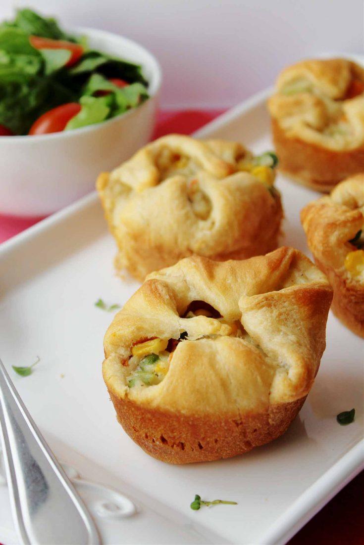 Healthy Chicken Mini Pot Pies
