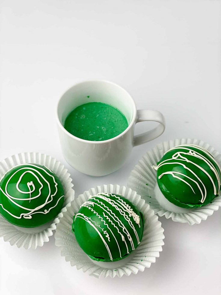 St. Patrick's Day Green Cocoa Bombs