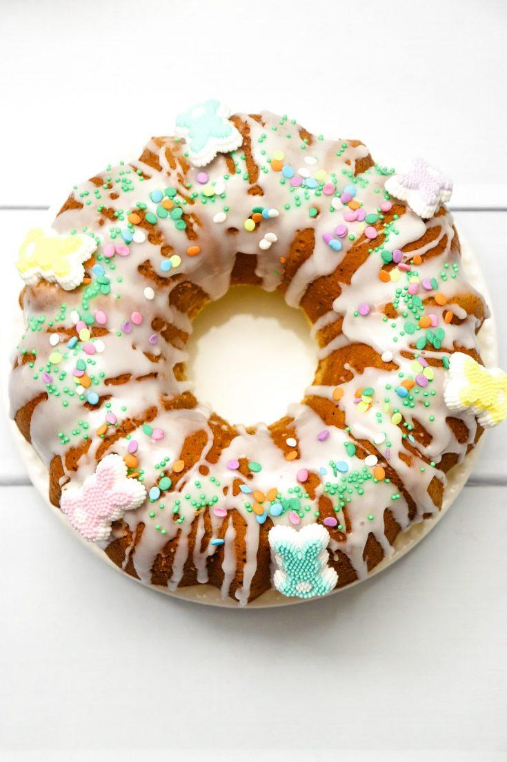 Easter Lemon Poppyseed Bundt Cake