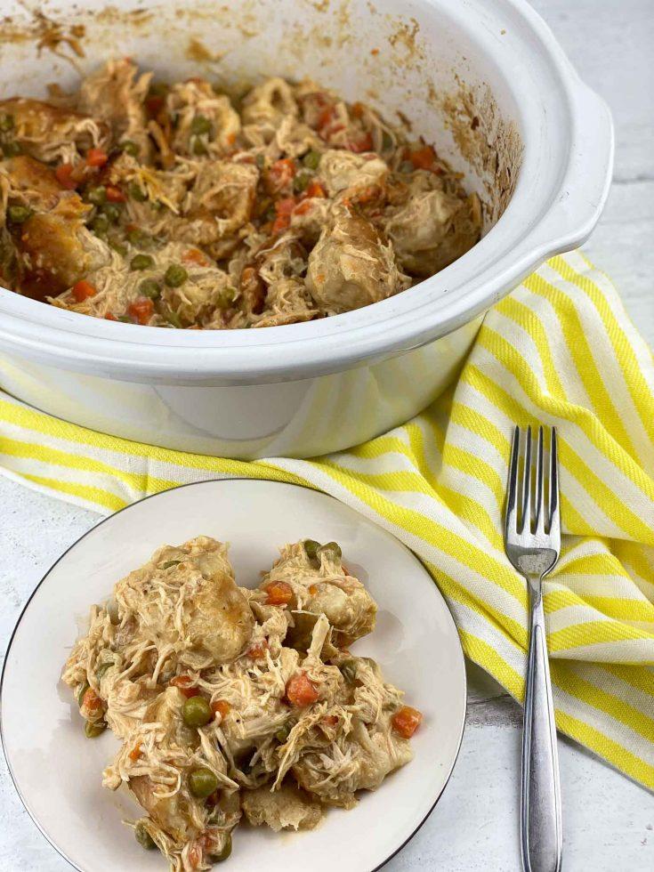 Crockpot Chicken and Dumplings For Dinner