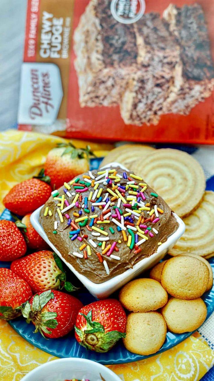 Brownie Batter Dip - Easy Fun Treat For Kids