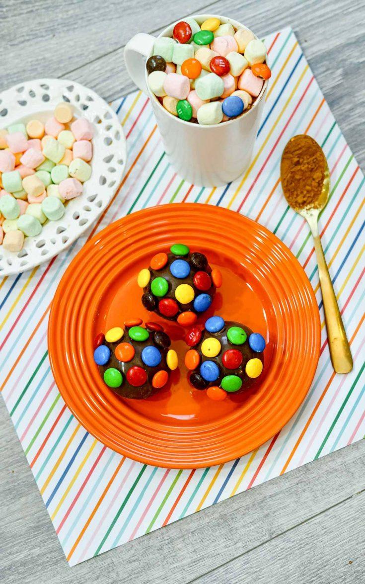 Super Fun M&M Hot Chocolate Bombs