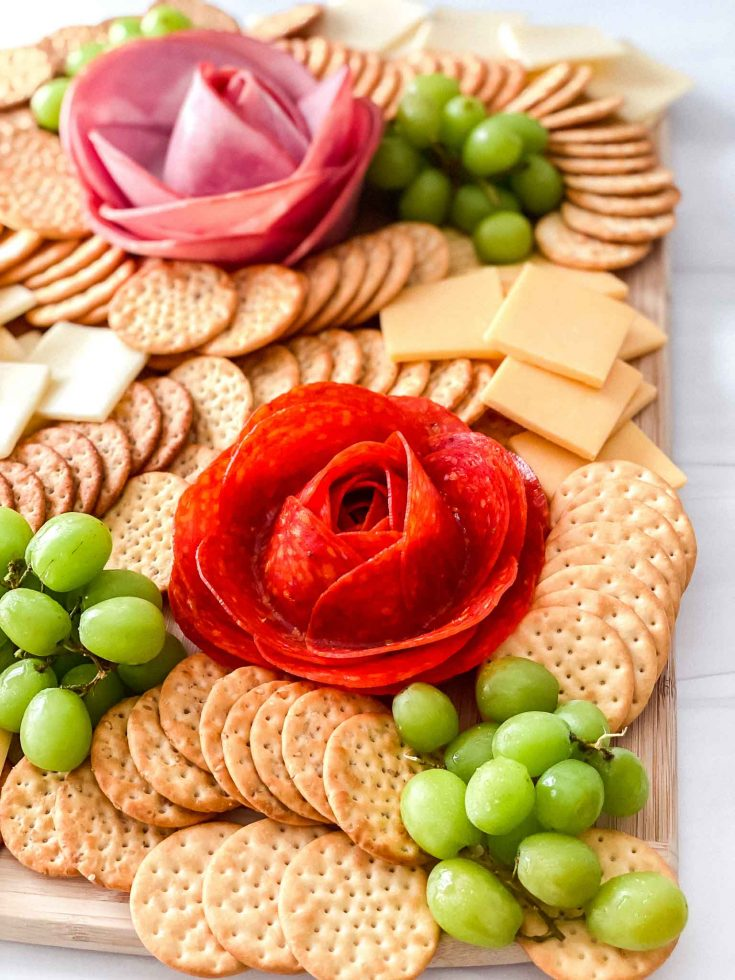 How To Make A Meat Flower Charcuterie Board