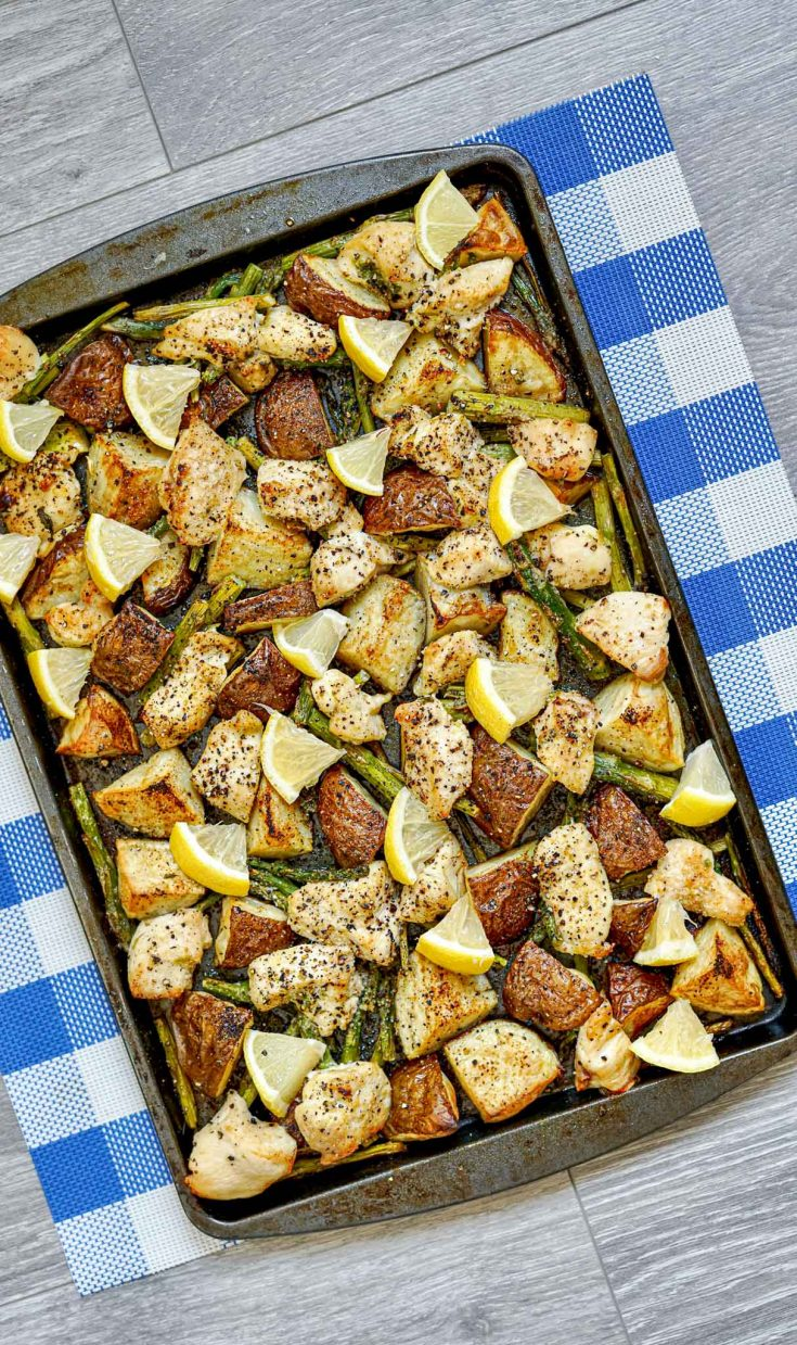 Easy Weeknight Lemon Chicken Sheet Pan Dinner