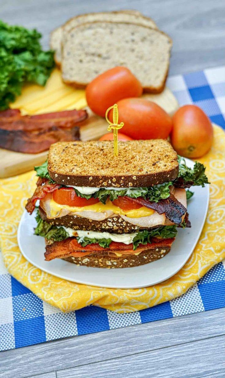 Air Fryer Turkey Club Sandwiches