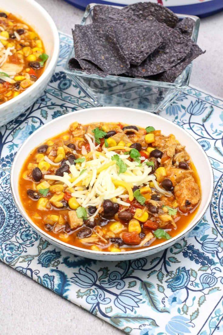 Instant Pot Spicy Black Bean White Chicken Chili