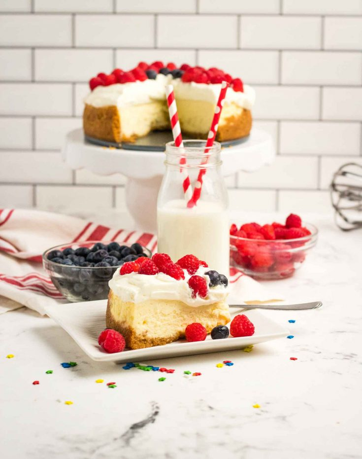 Red White and Blue Instant Pot Cheesecake
