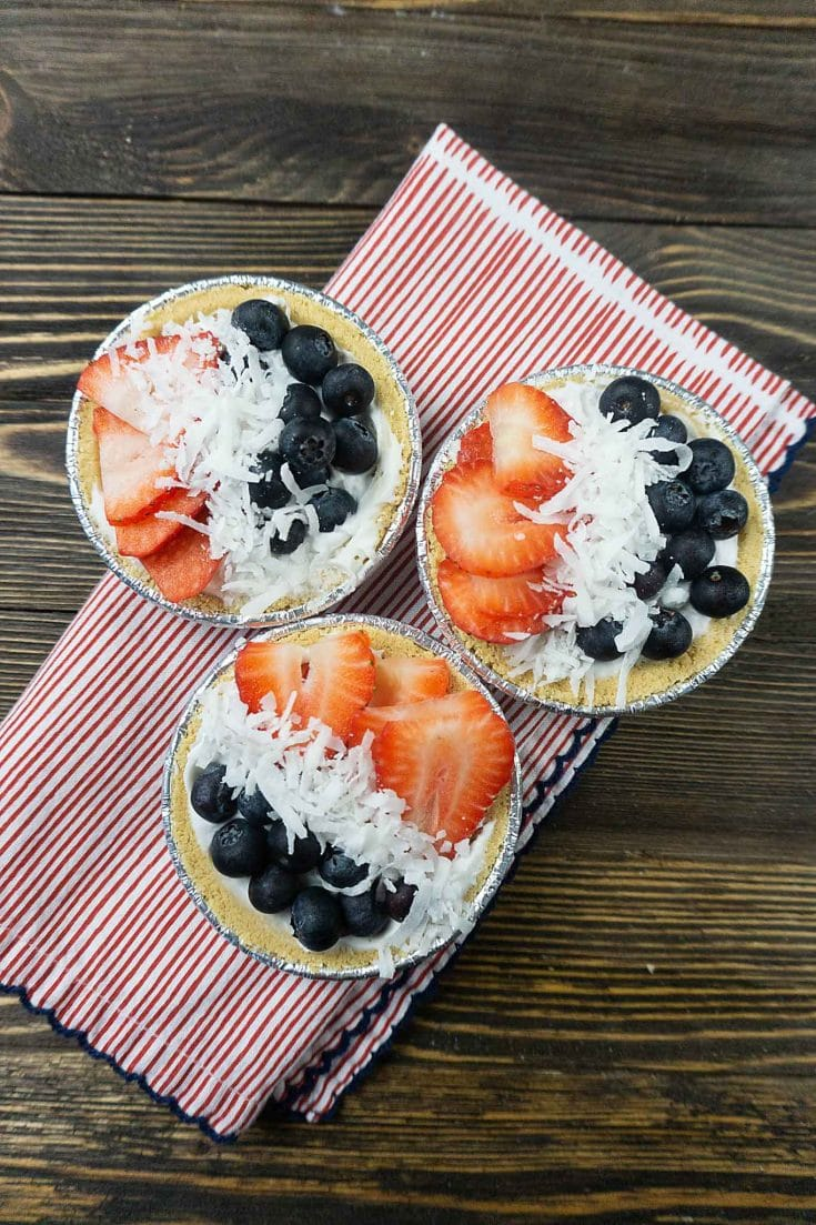 4th Of July Mini Pies Red White And Blue Desserts