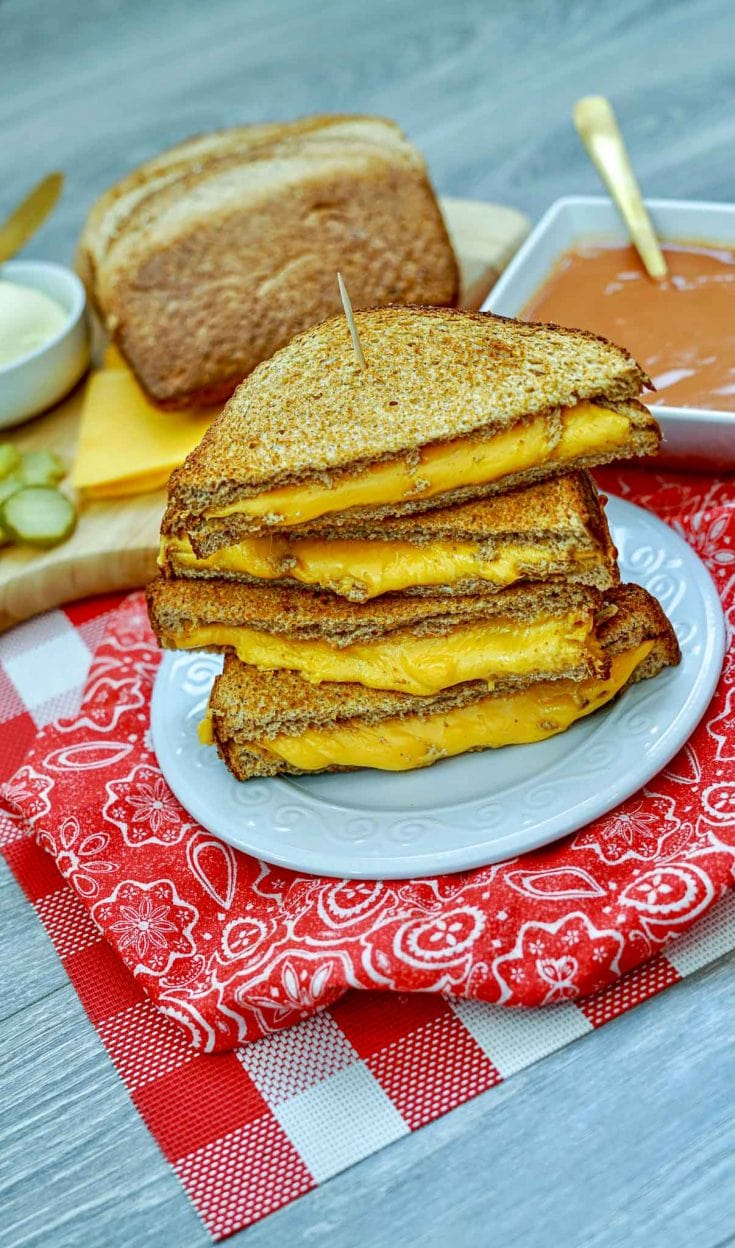 Easy Air Fryer Grilled Cheese Sandwiches