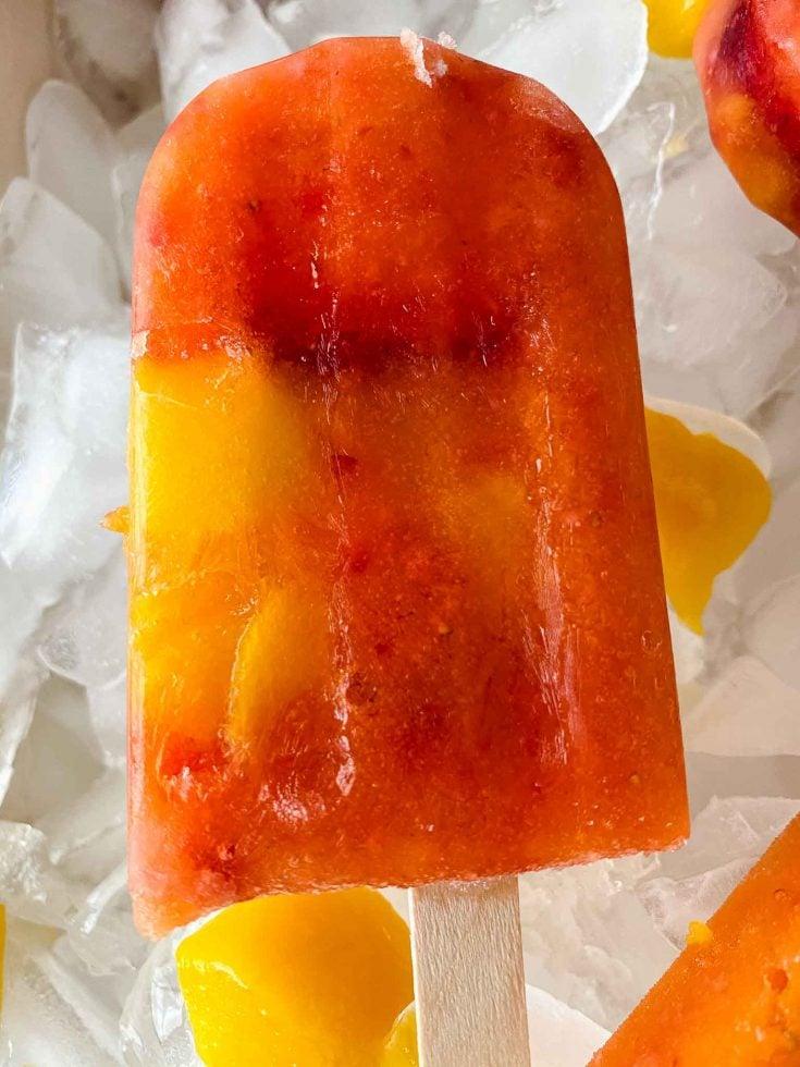 Easy Homemade Mango Strawberry Popsicles