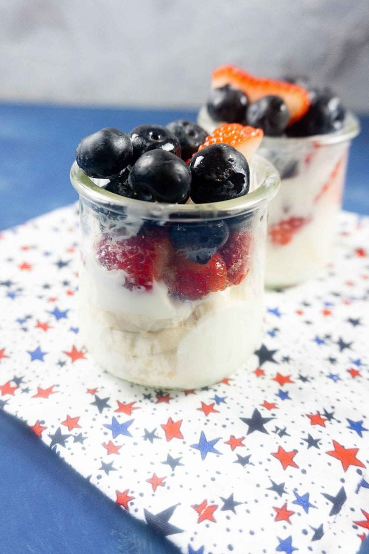 Red White And Blue Parfaits - 4th of July Treats
