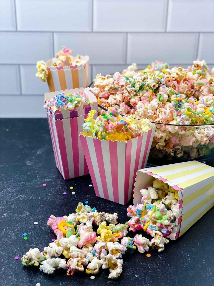 Colorful Unicorn Popcorn For Movie Nights
