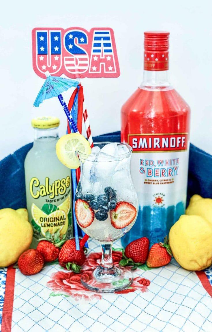 4th Of July Lemonade Cocktail Drink