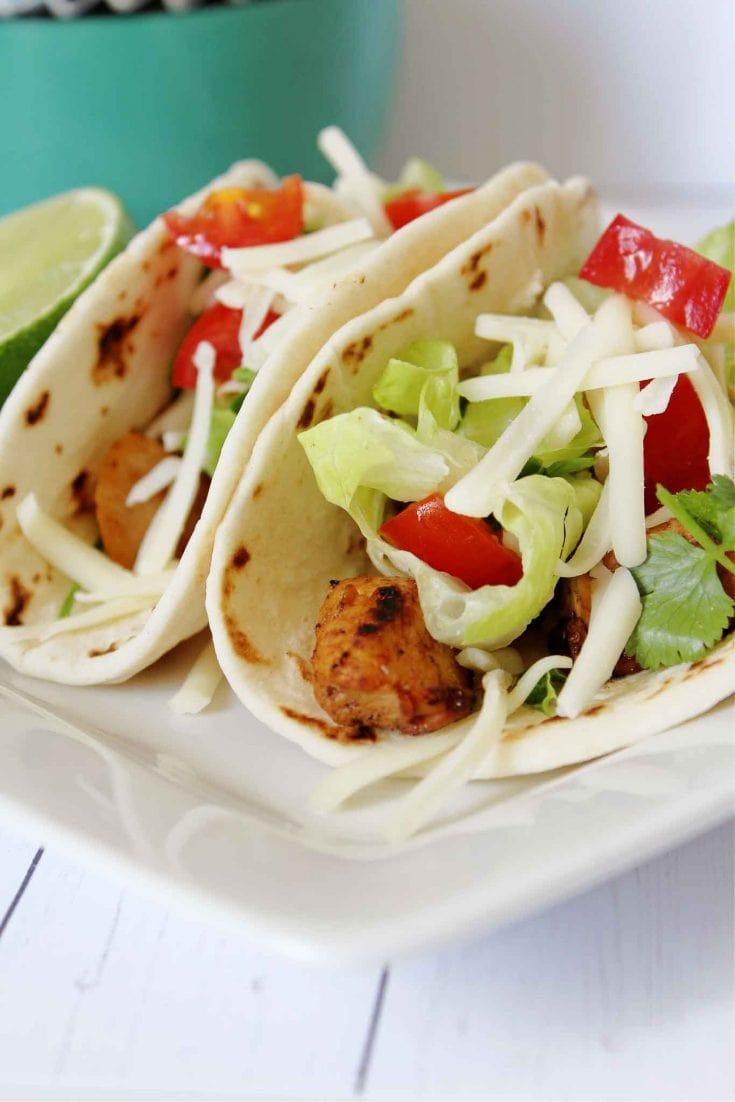 Healthy Cilantro Chicken Lime Tacos