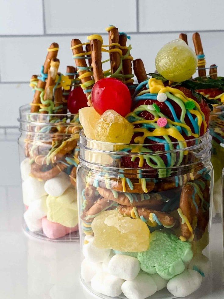 Sweet Charcuterie Board Individual Jarcuterie Dessert Jars