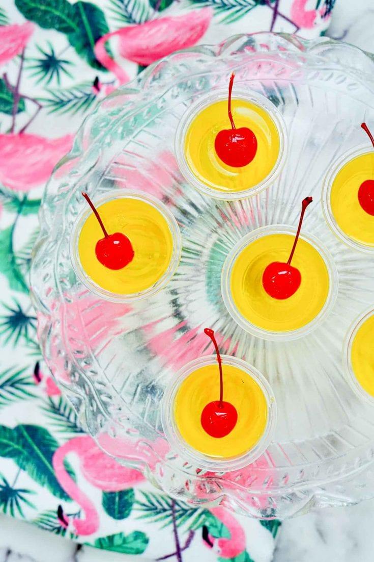 Tropical Coconut Rum Jello Shots