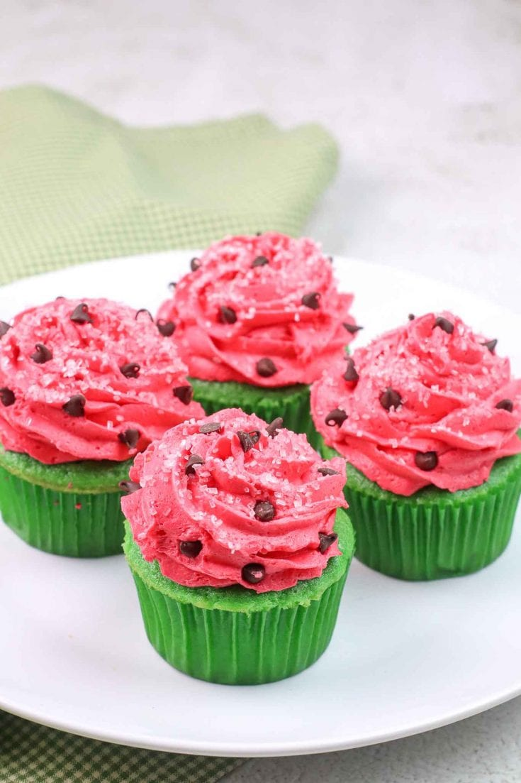 The Cutest Watermelon Cupcakes For Summer Parties