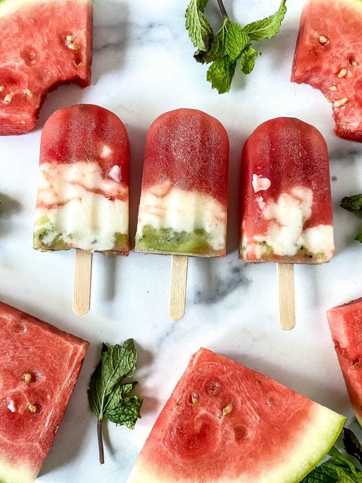 Easy and Amazing Fresh Fruit Watermelon Popsicles