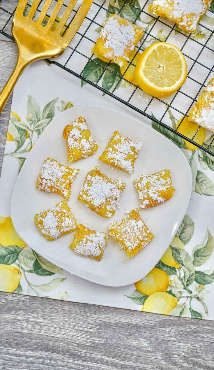 Tasty Three Ingredient Lemon Bars - Done in 15 Minutes