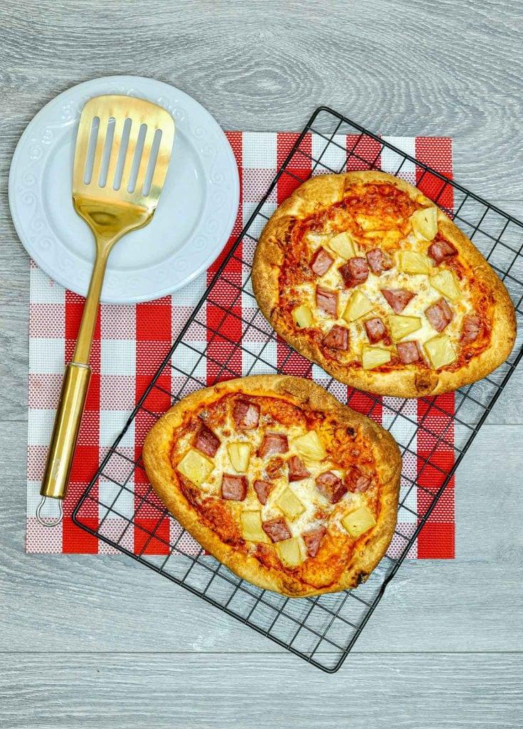 Air Fryer Hawaiian Pizza