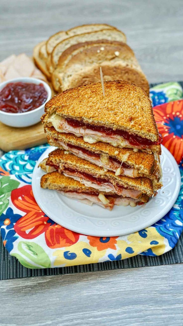 Amazing Air Fryer Turkey Cranberry and Brie Sandwiches