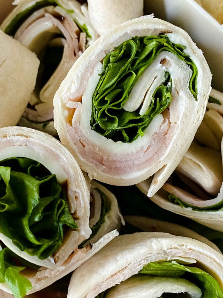 Easy Turkey Pinwheels - Great For School Lunch and Meal Prep
