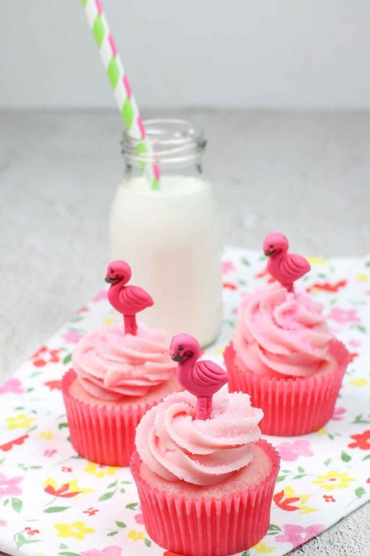 Easy Strawberry Cupcakes with Strawberry Buttercream Frosting