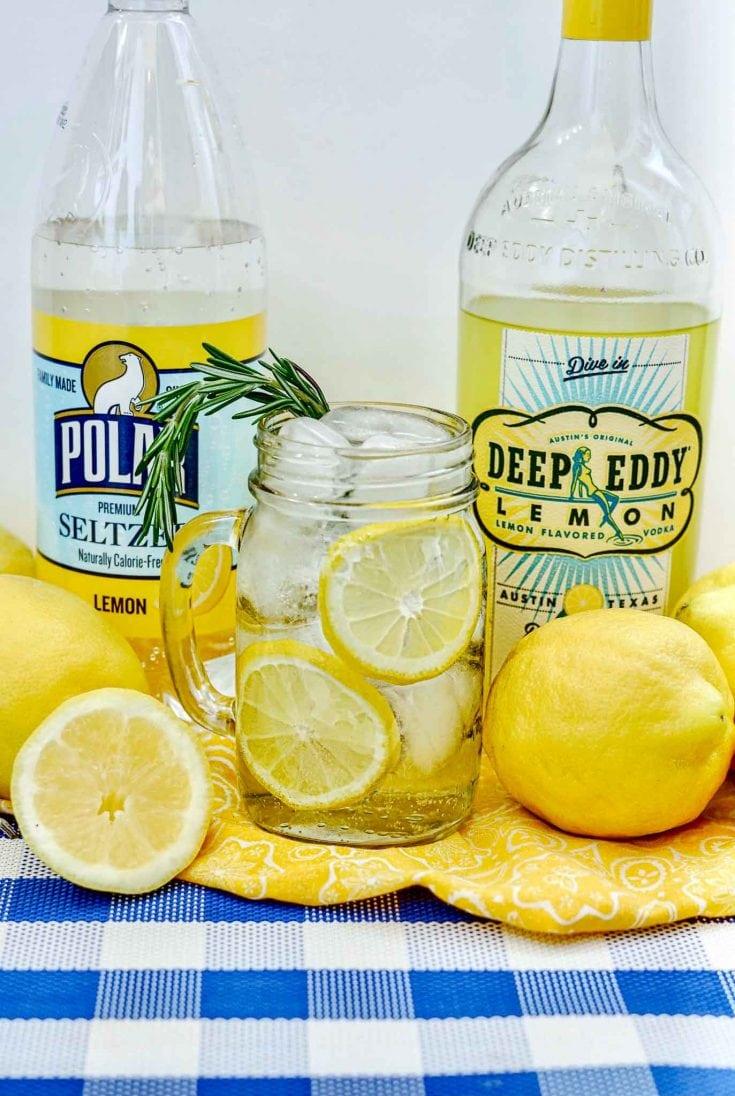 Easy Vodka Lemonade Spritzer Cocktail Recipe