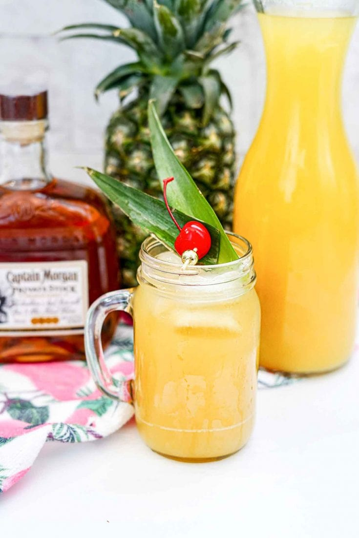 Easy Captain Morgan Rum Pineapple Cocktail