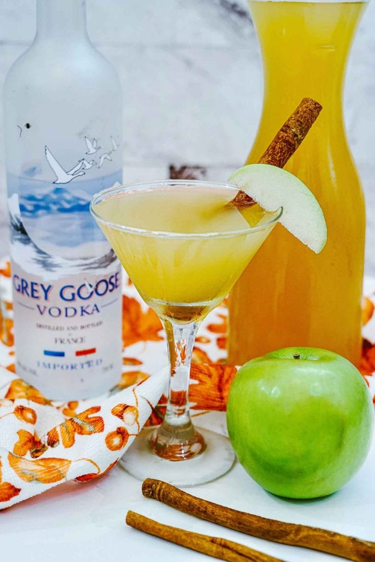 Grey Goose Apple Martini - Easy Fall Cocktails