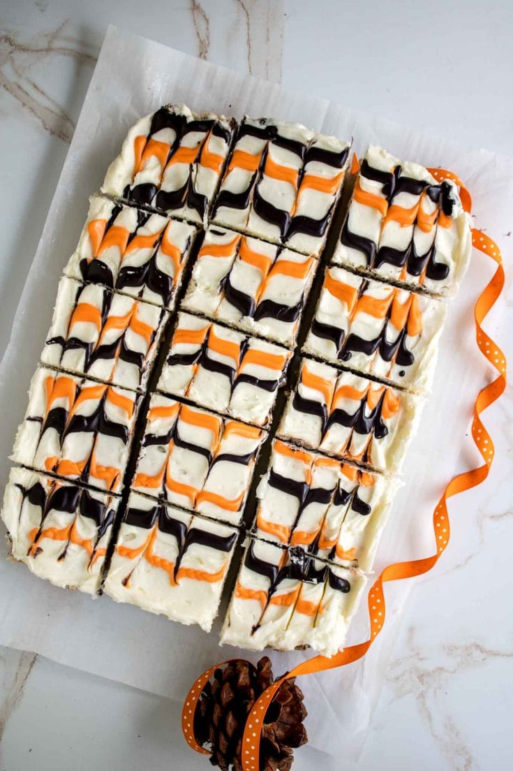 Easy Halloween Frosted Cookies and Cream Rice Krispy Treats