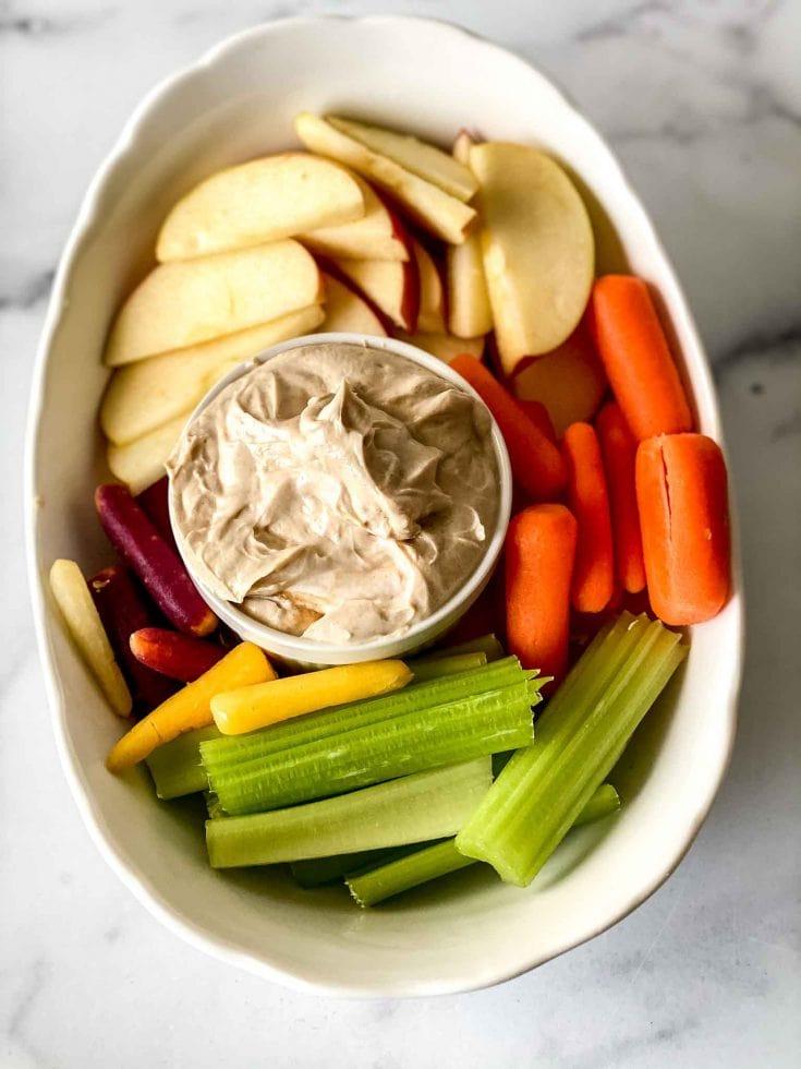 Creamy Nut Butter Dip - Easy After School Snacks