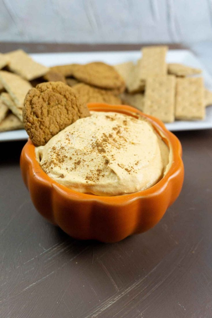 Easy Pumpkin Cheesecake Dip - Yummy No Bake Fall Dessert