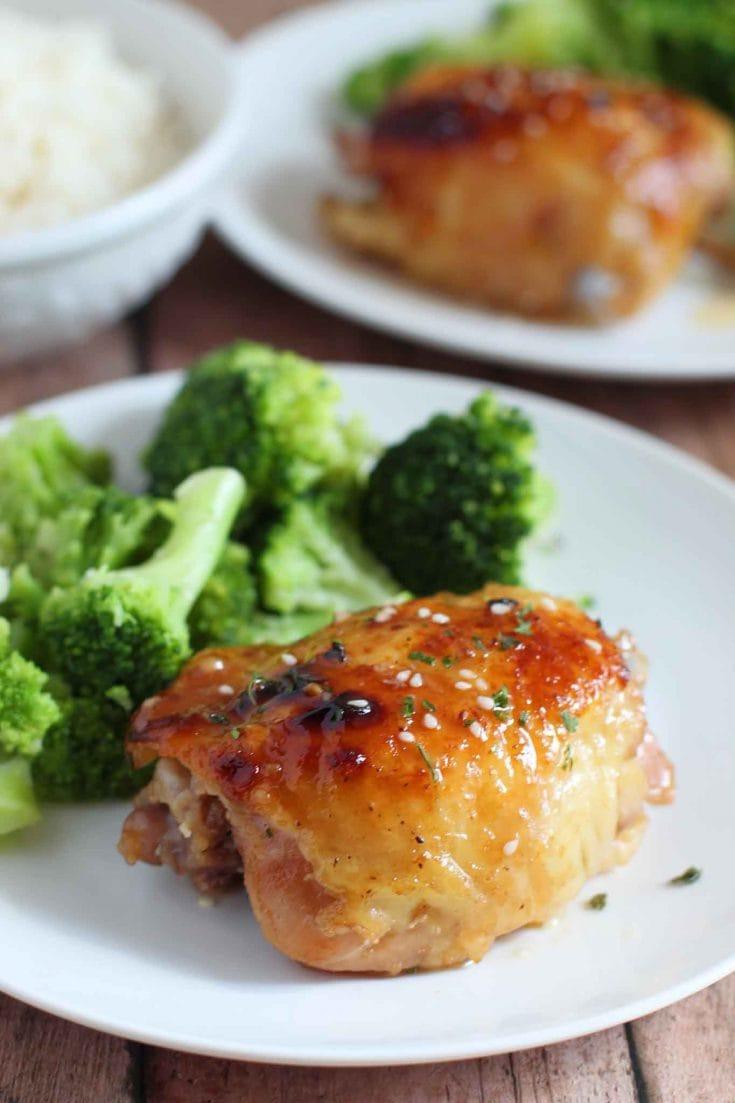 Easy Honey Soy Chicken Thighs For Dinner Tonight